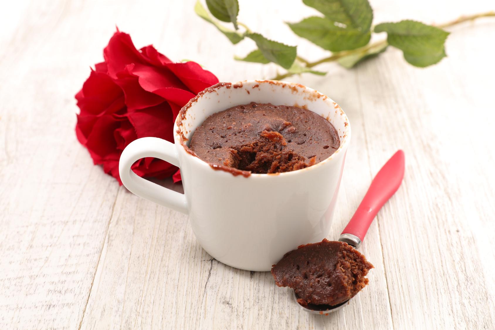 Sugar-free Moist Chocolate Hazelnut Mug Cake