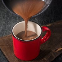 Orange flavoured hot chocolate